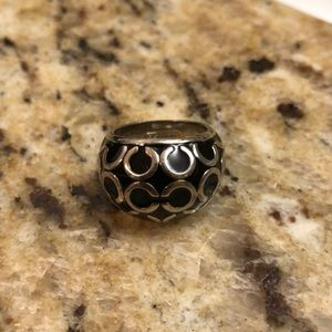Black and silver coach ring